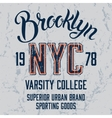Brooklyn City print design vector image vector image