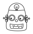 Robot kid toy icon vector image