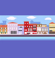 european cityscape in simple style vector image