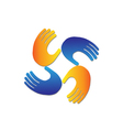Hands protection logo vector image