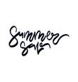 summer sale sale hand lettering design vector image