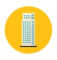 symbol apartment building line sticker vector image