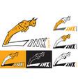 symbol lynx is jumping vector image