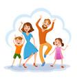 cute cartoon family vector image vector image