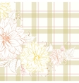 Excellent pattern with chrysanthemum vector image vector image