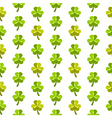St patrick day seamless pattern with shamrocks vector image vector image