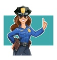 Beautiful girl police-officer vector image vector image