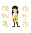 Hairdresser and female hairstyles vector image
