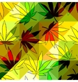 maryhuana hemp pattern vector image