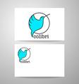 colibri bird sign vector image