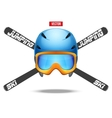 Ski jumping symbol badges and labels vector image