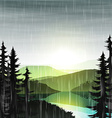 Summer landscape nature cloudy with rain vector image vector image