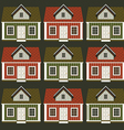 a lot of houses in the form of an ornament vector image