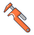 adjustable wrench icon cartoon style vector image