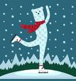 bear skating vector image