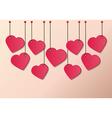 heart tag vector image