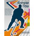 hockey poster vector image