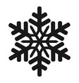 isolated snowflake icon vector image