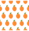 Seamless pattern with apricots vector image