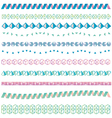 Set of geometrical patterned borders vector image