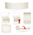 Set of old paper scrolls vector image