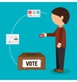 vote and election design vector image