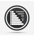 Energy efficiency icon Electricity consumption vector image