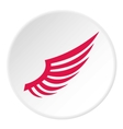 Red wing icon flat style vector image