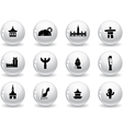 Landmarks and cultures icons vector image vector image