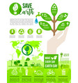 earth day and go green poster for ecology design vector image