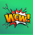 wow comic text sound effect speech bubble in vector image