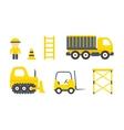 Construction Machines Set vector image