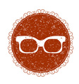 vintage sign with eyeglasses vector image