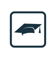 education icon Rounded squares button vector image