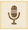Grungy microphone icon vector image
