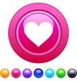 Heart circle button vector image vector image