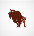 bison buffalo leader logo sign emblem vector image