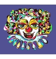 digital coloring drawing of abstract clown vector image