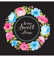 Flower garland for invitation card vector image