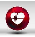 Heartbeat Echocardiography Cardiac exam Form heart vector image
