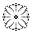 Laurel wreath tattoo Cross ornament Black sign vector image