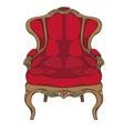 rococo armchair vector image