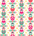 Russian doll Matryoshka folk seamless pattern vector image