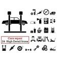 Set of 24 Car repair Icons vector image