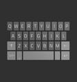smartphone keyboard vector image