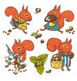 Squirrels vector image