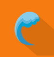 wave water ocean icon flat style vector image