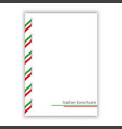 white brochure with ribbon in italian tricolor vector image