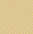 Seamless cross brown shading diagonal pattern vector image