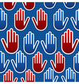 USA elections hand pattern vector image